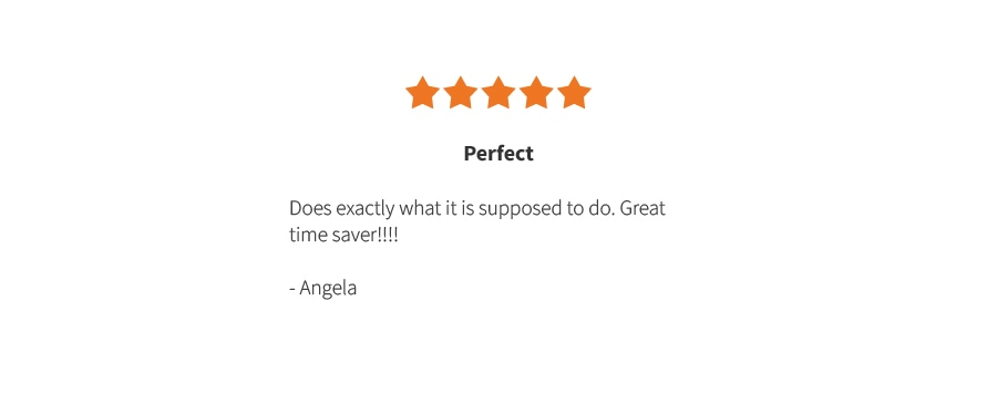 Angela's Review