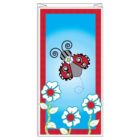 Ladybug and flowers bag