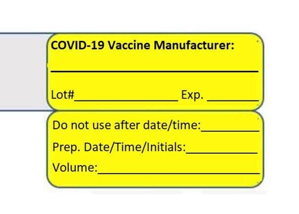 Covid19 Flag Label