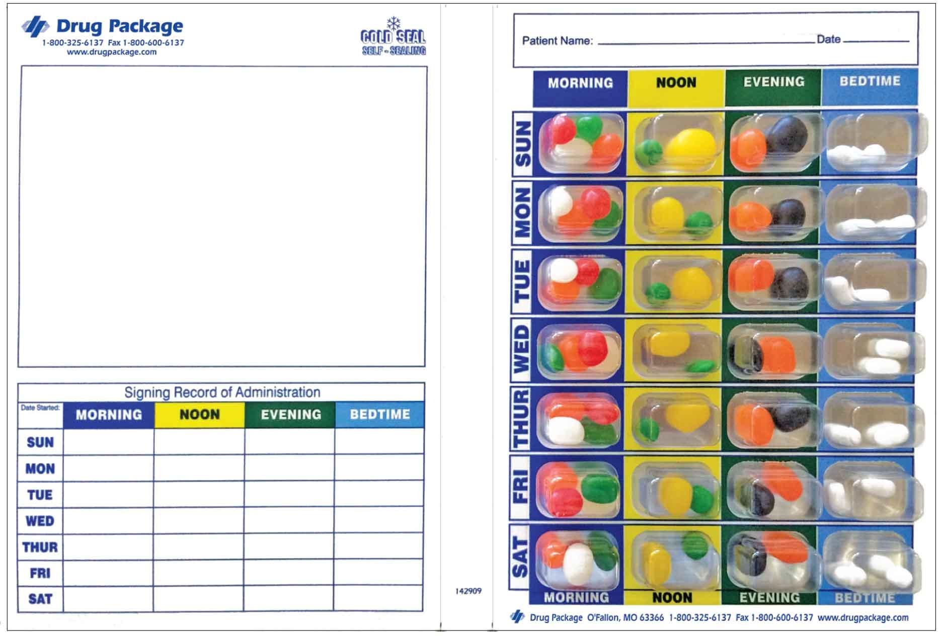 Medication Packaging Pill Cards Vs Pill Bottles