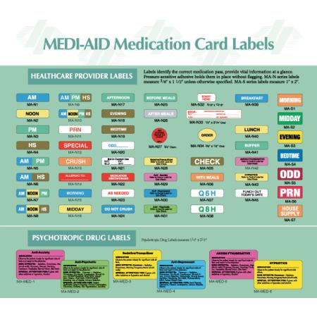 stock pharmacy labels