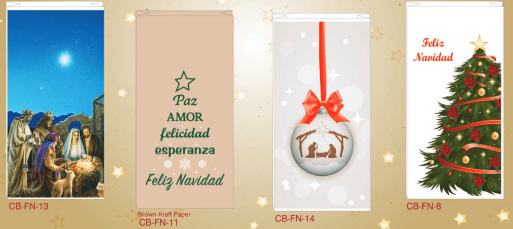 Spanish holiday pharmacy bags custom pharmacy bags spanish holiday pharmacy bags is your business ready to spread a little cheer reheart Image collections