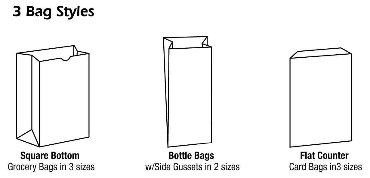 3 bag styles