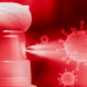 Hand Sanitizer Spraying Virus